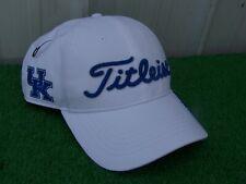 Titleist Golf Uk Kentucky Wildcats White Performance Adjustable Golf Hat Cap New