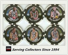 2009 Topps AFL Collectable Poker Chipz Base Team Set Collingwood (8)