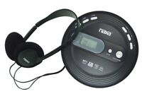 Naxa NPC-330 Personal Compact Slim CD Player +Anti-Shock +FM Radio +Headphones