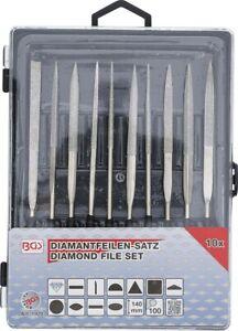 BGS 1920 Diamantfeile Set Schlüsselfeilen Feilen Set gerade 10 Teilig