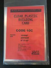"JAVIS 9x12 10/000"" CLEAR PLASTIC BUILDING CARD PLASTIC SHEET RAILWAY DIORAMA 10C"