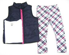 One Step Up Girls Vest, Long Sleeve Shirt & Legging Set Size 4 MSRP $40.00