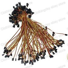 100pcs 30cm 1ft  Molex 3Pin Female to 3pin Male Fan Power Extension Adapter Wire