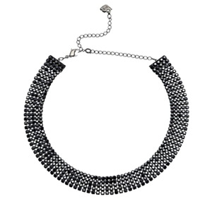 SWAROVSKI 5355185 BLACK RUTHENIUM PLATED WOMEN'S CHOKER NECKLACE