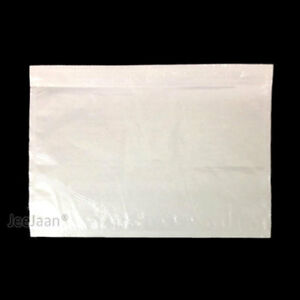 100 POUCHES SLIPS ADDRESS LABELING SHIPPING DOCUMENT ENCLOSED A6 PLAIN WALLET