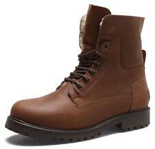 Wrangler Aviator Hi Leg Mens Leather Boots Brown Black Tan Lace Up