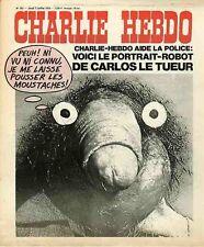 """""""CHARLIE HEBDO N°242 du 3/7/1975"""" VOICI LE PORTRAIT-ROBOT DE CARLOS LE TUEUR"""