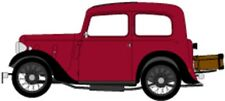 OXFORD 43RUB001 - 1/43 AUSTIN RUBY SALOON MAROON