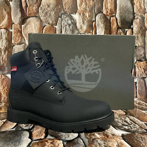 MEN'S TIMBERLAND CLASSIC 6 IN WATERPROOF BOOT BLACK HELCOR STYLE 06335A Sz:11M
