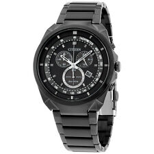 Citizen Eco Drive Black Dial Black Stainless Steel Men's Watch AT215558E