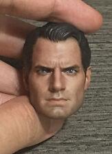 Custom 1/6 Scale Henry Cavill Superman 2 Head Sculpt For Hot Toys Body