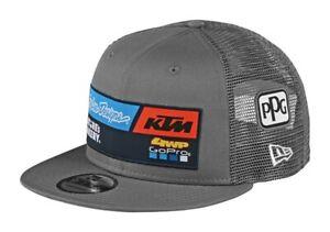 2020 TROY LEE DESIGNS KTM TEAM SNAPBACK CAP GREY ADULT TLD HAT MX NEW ONE SIZE