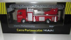 Man F2000 Ladder Fire Engine 1/76 scale model