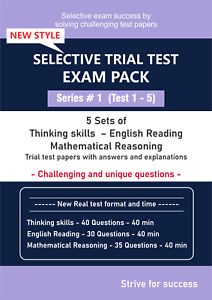 Selective Trial Test Papers -- Exam Pack (Series # 1) -- 5 Papers each
