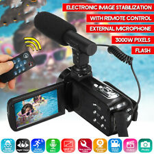 Full HD 1080P Digital Video Camera Camcorder YouTube Vlogging Recorder Set # ^
