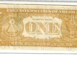 "$1 ""YELLOW BACK ERROR"" 1963-B (FRONT NORMAL) 1963 $1 ""JOSEPH BARR""!! CRISPY!!!!!"