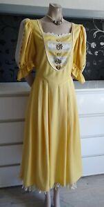 German  Austrian Dirndl/Trachten Yellow Dress + Underskirt 12