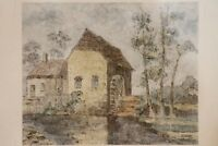 "Andre Turner Oil sketch on paper. "" Watermill Cobham Surrey "" A 922 /3"