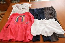 M&S Pink Top, Next Top white, pair of George white shorts 2 leggings 6 years