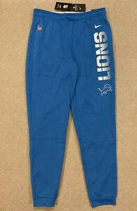 Nike NFL Detroit Lions On-field Warm-up Fleece Pants Blue Mens Size M AO4076-484