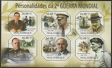 CHURCHILL :2011 MOZAMBIQUE Personalities of WWII sheet SG- MNH