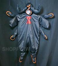 HTF Infant Baby Boy Girl Black Satin Spider Halloween Costume 12/18mo