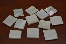 12 PCS SQUARE WHITE MOTHER OF PEARL SHELL INLAY BLANK #T-984C