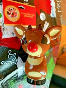 Rudolph the Red Nosed Reindeer Christmas Ornament 50 Years and Still Glowing NWT