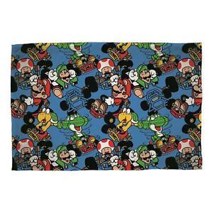 Super Mario Vroom Fleece Blanket Bed Throw Matches Bedding