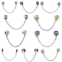 European Safety Chain Bead For Brand Charms 925 Silver Sterling Bracelets Bangle