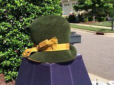 Vintage Marzi Firenze Ladies Hat - Green & Gold