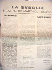 LA SVEGLIA De Martino Salerno Anni 70 Giornale Istituto Tecnico Commeriale ITC