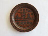 Vintage Royal Worcester Scottie Wilson Terracotta Plate c1960s United Kingdom
