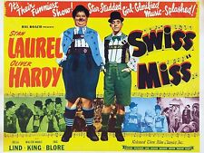 """SWISS MISS LAUREL AND HARDY 1938 16"""" x 12"""" Reproduction Movie Poster Photograph"""