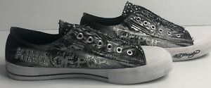 Don Ed Hardy US 9  ( Aus 8.5) Black & Bling Shoes  Women's