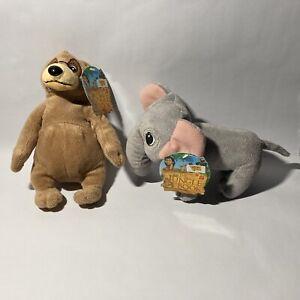 The Jungle Book Bear and Elephant 6 Inch Plush  Lot