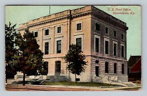 Owensboro KY, US Post Office, Vintage Kentucky c1911 Postcard