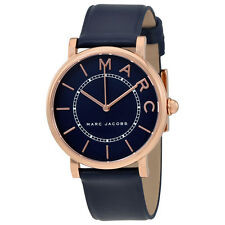 Marc Jacobs Roxy Navy Blue Dial Ladies Leather Watch MJ1534