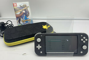 Nintendo Switch Lite Grey 32GB + Pokémon Sword/Case   VGC   FAST SHIPPING
