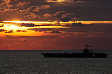 USS GEORGE WASHINGTON EXERCISE IN PACIFIC OCEAN 8x12 SILVER HALIDE PHOTO PRINT