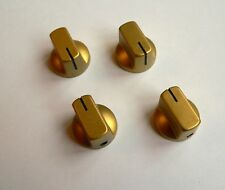 Small gold knobs x 4 for valve radio amplifier guitar pedal project knob