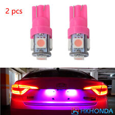 2x T10 W5W 5SMD 194 168 LED Pink Car Side Wedge Tail instrument panel Light Lamp