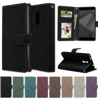 Matte Wallet Leather Flip Case Cover For Xiaomi Redmi Note 7 K20 S2 5 5A 6A 7 GO