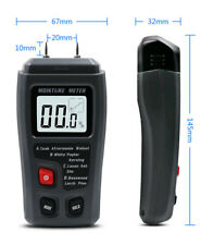 Portable Digital LCD Moisture Tester Meter Humidity Damp Wood Detector & Battery