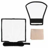 Bend Bounce Flash Diffuser+ Silver/White Reflector for Speedlight ,Canon, Nikon