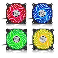 4 X Pack De Juego Max 7 Colour RGB LED 12 cm 120 mm Pc Estuche Ventilador de refrigeración 1200 Rpm
