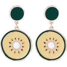Gift Fashion Women Party Holiday Jewelry New Enamel Lemon Drop Dangle Earrings