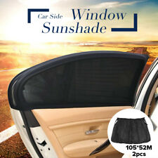 2Pcs Car UV Protection Sun Shade Curtains With Elastic Kit For Rear Side Window