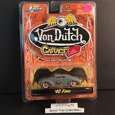 Jada Toys 1940 40 Ford 1:64 Von Dutch Garage 2003 Grey Chopped Kustom