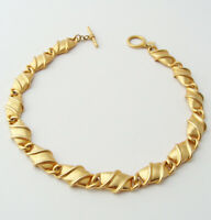 ANNE KLEIN Vintage Chunky Link Chain Necklace … Gold Tone, Runway, Statement